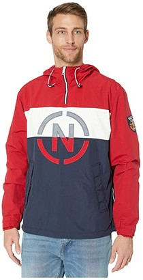 Nautica Pullover Hoodie (Red) Men's Clothing