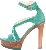 Jimmy Choo Suede Platform Sandals