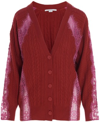 Stella McCartney Lace Cable-Knit Cardigan