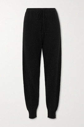 Madeleine Thompson Working Girl Cashmere Track Pants - Black