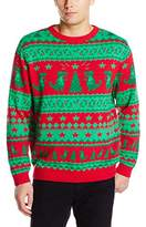 Alex Stevens Men's Traditional Dinosaur Fairisle Ugly Christmas Sweater