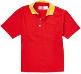 Red & Yellow Contrast-Collar Polo - Boys