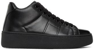 Maison Margiela Black Game Set Match Mid-Top Sneakers