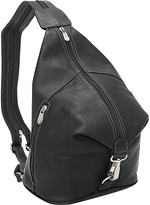 Piel Three-Zip Hobo Sling