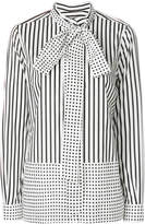 Burberry striped and polka dot blouse