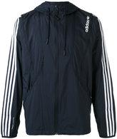 adidas striped arms hooded jacket - men - Nylon - XS