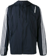 adidas striped arms hooded jacket