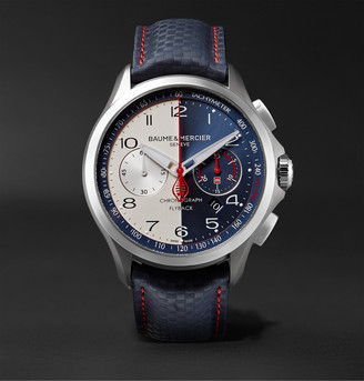 Baume & Mercier Limited Edition Clifton Club Shelby Cobra Automatic 44mm Stainless Steel And Leather Watch, Ref. No. 10344