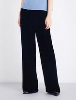 Armani Collezioni Flared velvet trousers