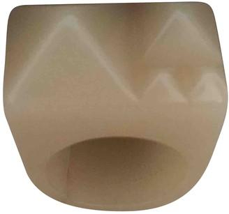 Burberry Beige Plastic Rings