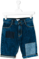 Little Marc Jacobs patchwork denim shorts - kids - Cotton - 14 yrs