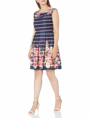 Tiana B T I A N A B. Women's Sleeveless Printed Fit and Flare Dress