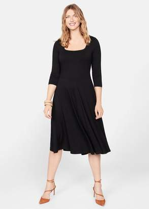 MANGO Flared midi dress