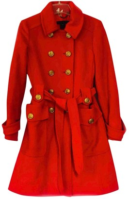 Marc by Marc Jacobs Red Wool Trench coats