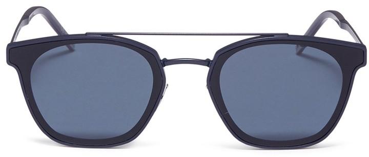 Saint Laurent 'Classic 28' acetate inset metal square sunglasses