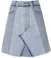 RE/DONE Seamed Indigo High-Rise Mini Skirt