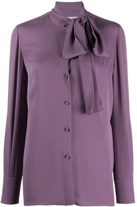 Valentino Pussy-Bow Buttoned Blouse