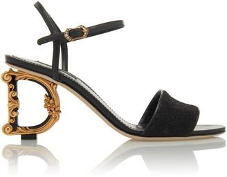 Dolce & Gabbana Baroque-Heel Lurex Sandals