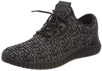 Urban Classics Unisex Adults' Knitted Light Runner Shoe Trainers, Multicolour (Black/Grey/Black 828)