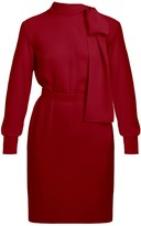 Undress Dia Deep Red Mini Dress With Ribbon On Shoulder