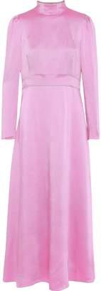 Valentino Hammered-satin Gown