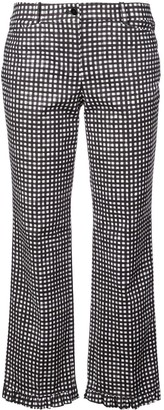 Michael Kors Gingham Ruffle-Hem Trousers