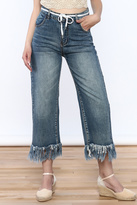 Current Air High Waist Frayed Jeans