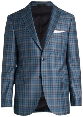 Saks Fifth Avenue COLLECTION Multi-Plaid Sportcoat