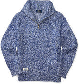 Ralph Lauren Marled Cotton Half-Zip Sweater