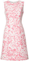Oscar de la Renta sleeveless floral jacquard dress