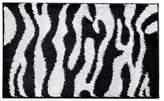 "InterDesign Zebra Bath Rug (34x21"") - Black/White"