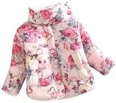 Kids Child Girl Flowers Coat Jackets Changeshopping Winter Thick Top Waistcoat (12M, )