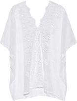 Miguelina Kara crocheted cotton coverup