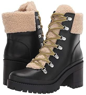 Steve Madden Bundleup Winter Boot (Black Leather) Women's Shoes