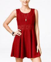 American Rag Crochet A-Line Dress, Only at Macy's