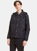 Ami Men's Hooded Coach Jacket In Black