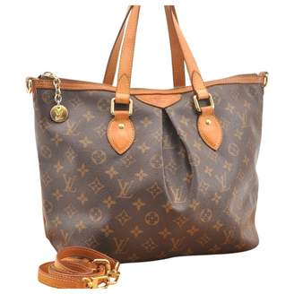 Louis Vuitton Palermo Brown Cloth Handbags