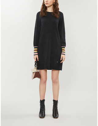 Ted Baker Iveeiy knitted-crepe midi dress