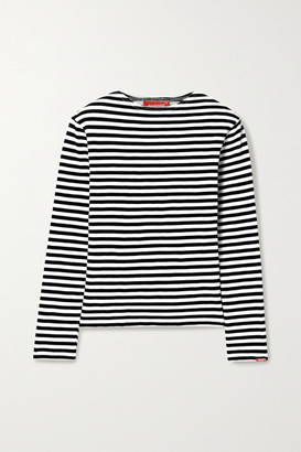 Denimist Striped Cotton-jersey Top - Black
