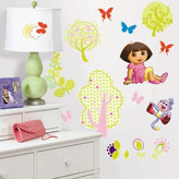 Nickelodeon Room Mates Favorite Characters 28 Piece Dora the Explorer Wall Decal Set