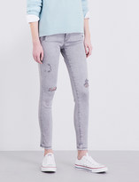 AG Jeans The Legging Ankle distressed super-skinny low-rise jeans