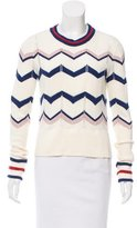 Veronica Beard Patterned High-Low Sweater