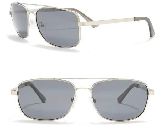 Timberland Aviator Polarized 59mm Sunglasses