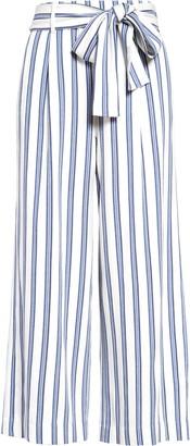 Halogen Stripe Crop Wide Leg Pants