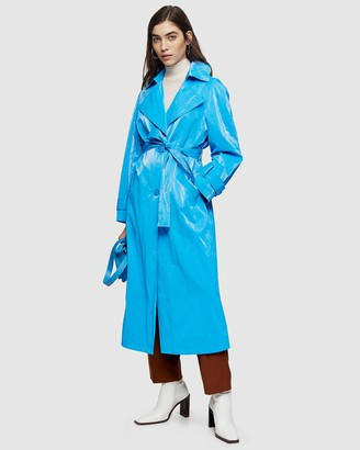 Topshop Erika Crinkle Trench Coat