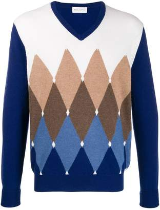 Ballantyne argyle-knit jumper