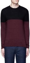 Topman Colourblock crew neck sweater