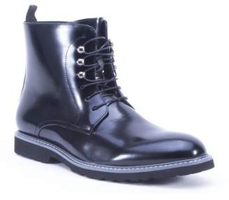 French Connection Nice Leather Lace-Up Combat Boot