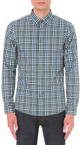 Michael Kors Romeo Check-print Slim-fit Cotton Shirt