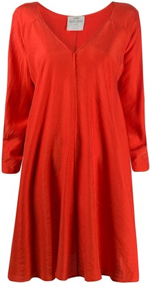 Forte Forte Silk Long-Sleeve Flared Dress